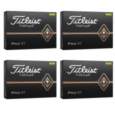 Personalised Pro V1 Yellow Golf Balls - 4 for 3 Dozen