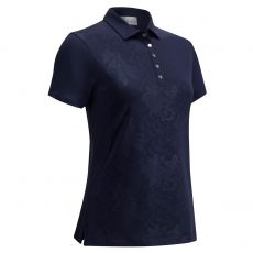 Embossed Floral Golf Polo Shirt