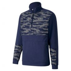 CS Camo Quarter Zip Sweater