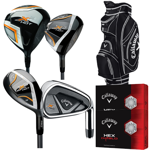 Callaway X2 Hot Mens Complete Golf Set Graphite Shafts Pick Up And