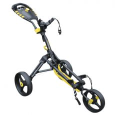 One 3 Wheel Compact Trolley Black/Yellow