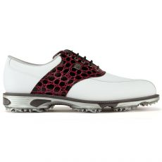 Dryjoys Tour Mens Golf Shoes White/Black/Croc Red 2017