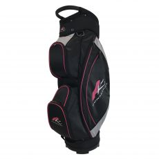 Lite Cart Bag Black/Silver/Fuschia