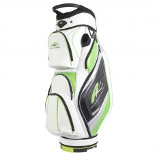 Premium Cart Bag Polar White/Lime
