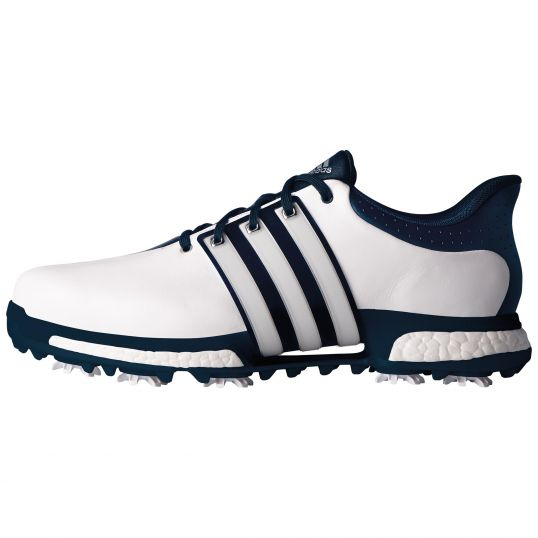 Adidas Tour 360 Boost Golf Shoes White/Navy at JamGolf
