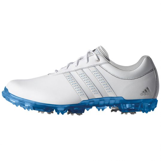 Adidas AdiPure Flex Mens Golf Shoe White/Blue | JamGolf