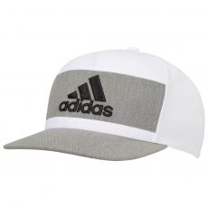 Heather Block Cap White