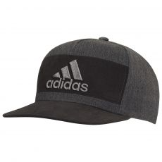 Heather Block Cap Black