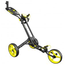 One 3 Wheel One Click Trolley Grey/Yellow