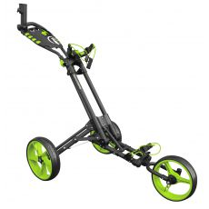 One 3 Wheel One Click Trolley Grey/Green