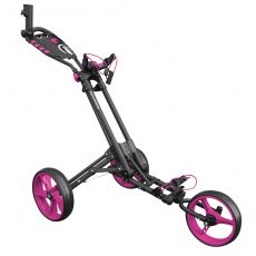One 3 Wheel One Click Trolley Grey/Pink