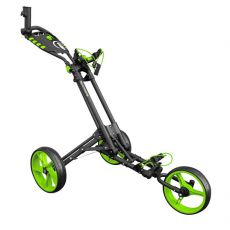 One 3 Wheel Compact Trolley Grey/Green