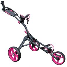 One 3 Wheel Compact Trolley Grey/Pink