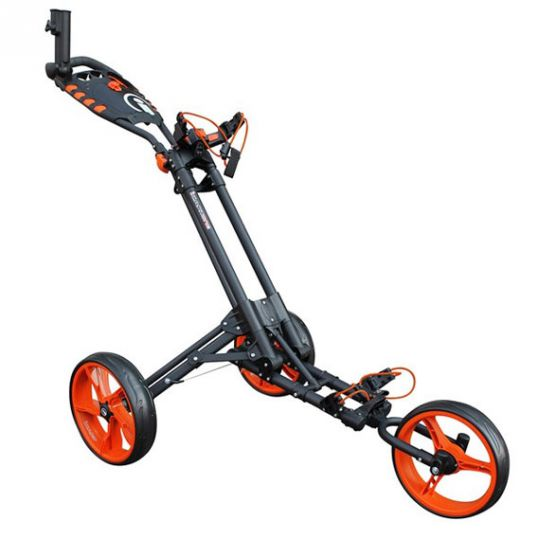 One 3 Wheel Compact Trolley Grey/Orange