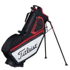 Players 5 Stand Bag Black/White/Red