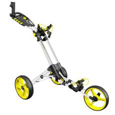 One 3 Wheel One Click Trolley White/Yellow