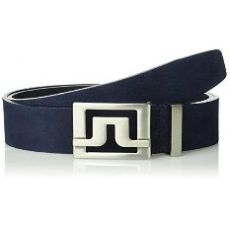 Slater Brushed Leather Belt Navy