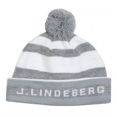 Stripe Golf Beanie Stone Grey