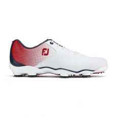 DNA Helix Mens Golf Shoes White/Red/Blue