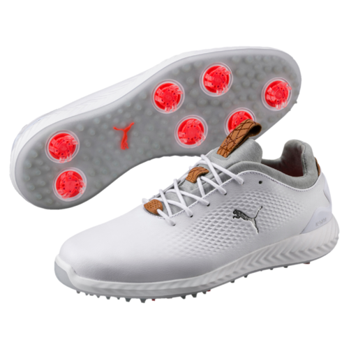 2e5db830d50151 Puma Ignite PWRAdapt Leather Mens Golf Shoes Puma White