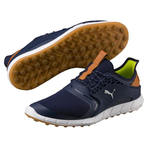 12d636f20265 Puma Ignite PWR Sport Mens Golf Shoes Peacoat Puma Silver