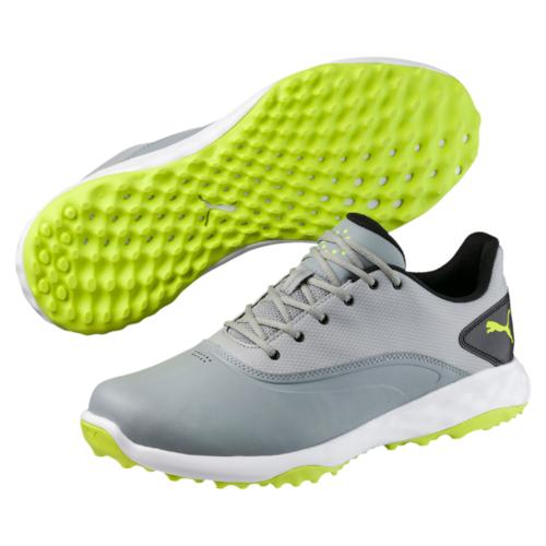 Puma Grip Fusion Mens Golf Shoes Quarry Acid Lime Puma Black  5d6d7f4a664