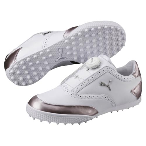 cc4c87a5a6ae Puma Monolite Cat Disc Ladies Golf Shoes Puma White Silver