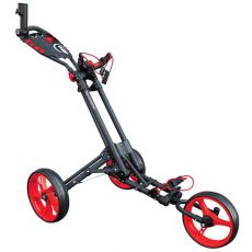 One 3 Wheel One Click Trolley Grey/Red