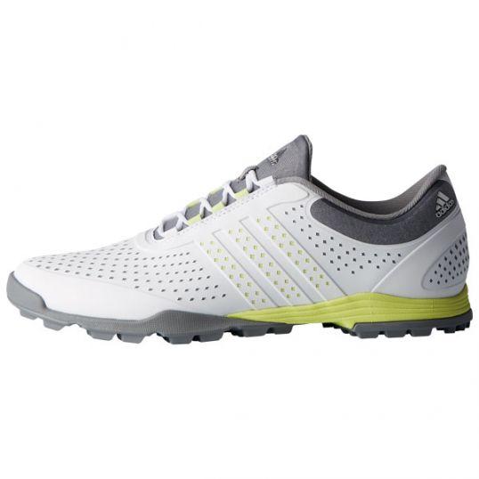 quality design 1462f 0bc62 AdiPure Sport Ladies Golf Shoes - WhiteYellowGrey