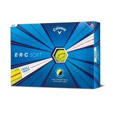 ERC Soft Triple Track Yellow Golf Balls